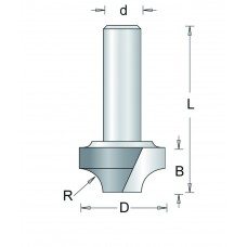 100-8 HM AFRONDFREES , D= 9,5, R= 3,2