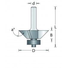 105-6 HM KANTENFREES ONDER HOEK , D= 22,2, A= 22