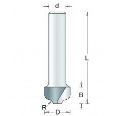 101-8 HM PROFIELFREES TYPE A , D= 12,7, R= 2, L= 50