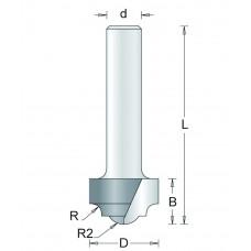 146-6 HM PROFIELFREES TYPE B , D= 19,1, R1= 3,7