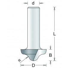 151-8 HM PROFIELFREES TYPE C , D= 27, R= 6