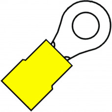 GEISOLEERDE RINGKABELSCHOEN M4 VOOR 4,0-6,0 MM², PVC A 4643 R . (100 S