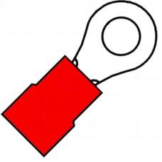 GEISOLEERDE RINGKABELSCHOEN M4 VOOR DRAAD 0,5-1,5 MM²
