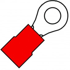 GEISOLEERDE RINGKABELSCHOEN M5 VOOR DRAAD 0,5-1,5MM² A 1553 R (100)