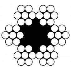 STAALKABEL 4X3 + TWK - 1 MM - ROL 500 METER - VERZINKT