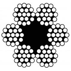 STAALKABEL 6X19 + 1 TWK - 3 MM - BUNDEL 25 METER - VERZINKT