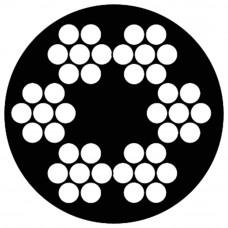 STAALKABEL 6X7 + 1 TWK - 3-5 MM - BUNDEL 25 METER - VERZINKT - PVC