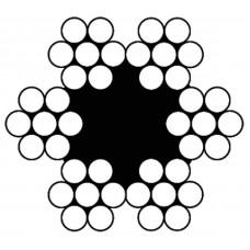 STAALKABEL 6X7 + 1TWK - 4 MM - ROL 125 METER - VERZINKT