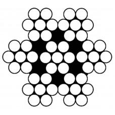 STAALKABEL 7X7 - 3 MM - ROL 100 METER - RVS 316