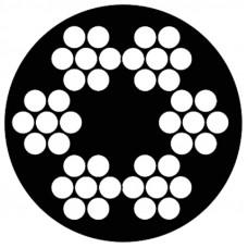 STAALKABEL 6X7 + 1 TWK - 3-5 MM - ROL 75 METER - PVC TRANSPARANT