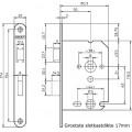 VRIJ/BEZET SLOT RVS 1264/87 DR1 4TECX